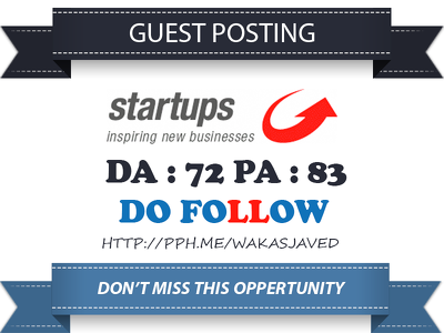 Guest Post on startups - startups.co.uk DA 72 Dofollow Link