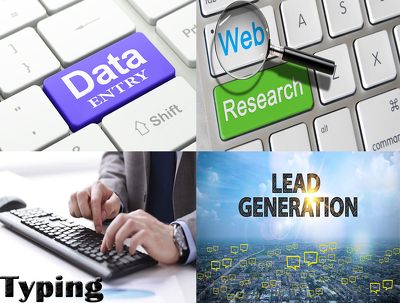 Provide *8 hours* lead generating, Data research  service