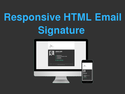 Professionally design a responsive HTML email signature