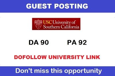 Guest post on California edu University [USC.edu] DA 90 Dofollow