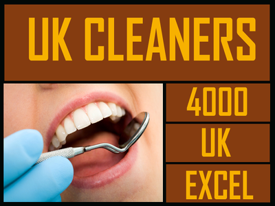 Give you 4000 UK cleaners contact