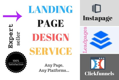 Do landing page design with leadpages clickfunnels unbounce