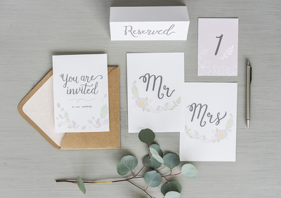 Design an affordable, custom wedding stationery package