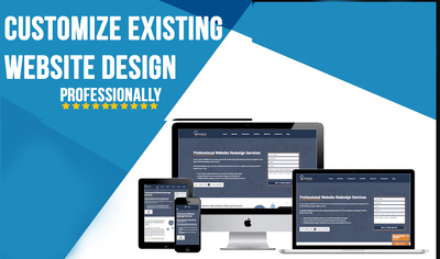 Customize Existing Website Design Professionally