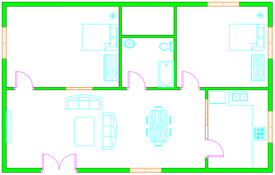 Draw 2D Floor Plans from Hand Sketches or PDF (2 Plans in 10$)