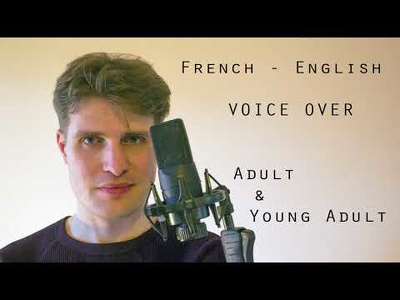 Record a French Or English Voice Over, Adult And Young Adult
