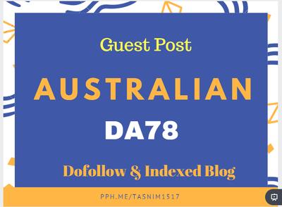 guest post on DA78 Australian Website