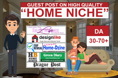 Guest Post on Home Improvement/Decor/Furniture/Plumbing Blogs.