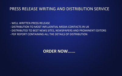 Write and distribute Press Release in UK