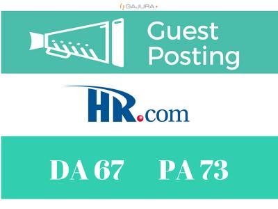 publish a Premium Guest Post on HR - HR.com DA 67 PA 73