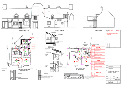 1(one) Lighting Layout PDF print House & delivery  2(two) days