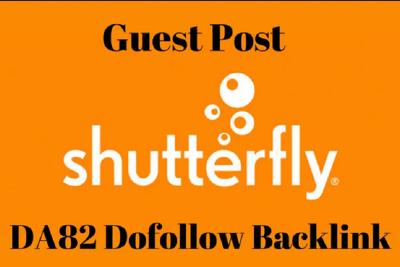 Provide Guest Post On Shutterfly _ ShutterFly.com DA 82