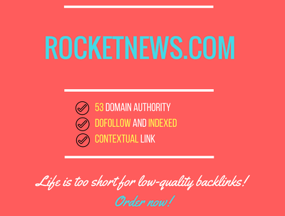 Add a guest post on rocketnews.com