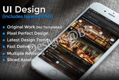 Design a modern attractive mobile app UI design/ mock-ups fast