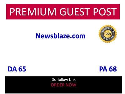 Publish guest post  in NewsBlaze - Newsblaze.com DA 65 do-follow