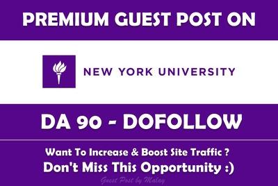 Publish guest post on New York University. nyu.edu - DA 90