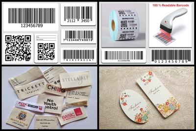 create barcode, Clothing labels, Hang tags & Price tags in 24h.