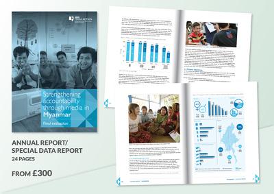 Design a 24-page annual report