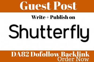 Publish Guest Post On ShutterFly DA82