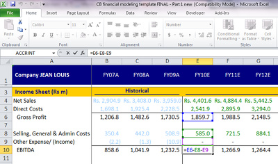 Provide you financial model in MS EXCEL