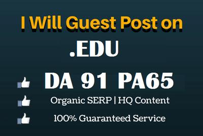 Write & publish edu guest post on EDU blog DA 91