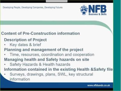 Create a Construction Phase (Health & Safety) Plan for your work