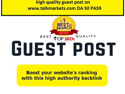 High Quality Guest Post on www.talkmarkets.com DA 50 PA59 Domain