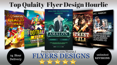 Do an amazing Poster, brochure,leaflet or flyer design