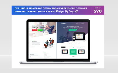 Design Modern Homepage Website and Get PSD Layered Source Files