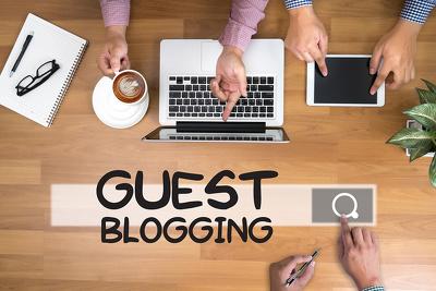 Write & Guest Post 5 x SEO Guest Blogs via Blogger Outreach