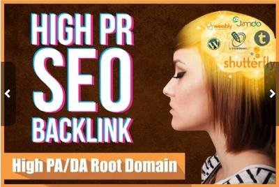 50 High Quality PR10 to PR6 High PA, DA Backlinks