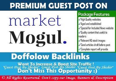 Publish a guest post on The Market Mogul - themarketmogul.com