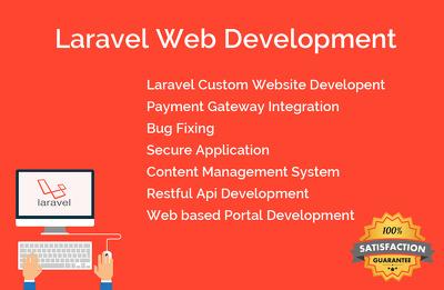 Do any type of project in laravel framework