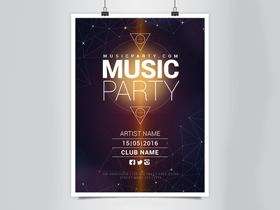 Design any sizes professional poster
