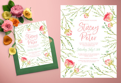 Design your stunning wedding invitation