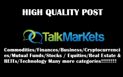 Publish a Guest Post Do Follow TalkMarkets.com DA 55 PA 57 Blog