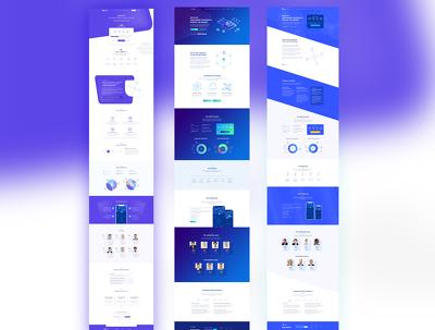 Design a bespoke UI for Crypto, ICO Home page PSD