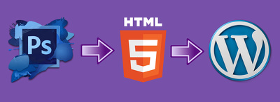 convert psd to html and WordPress