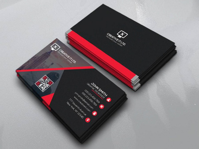 Design professional business card with all printable file format