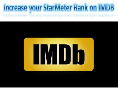 Increase your starMeter Profile page on IMDB