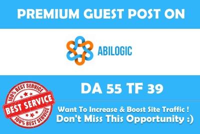 Publish Guest Post on Abilogic  DA 55 - Premium Dofollow link.