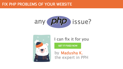 Fix any PHP bug or issue