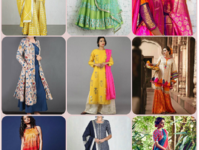 Make a unique Indian women's ethnic wear, handmade dress for you