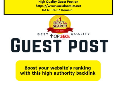 High Quality Guest Post https://SocialNomics.net Da 61-PA 67 URL