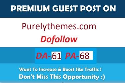 Write & Publish Guest Post On Purelythemes.com Da- 61 Blog