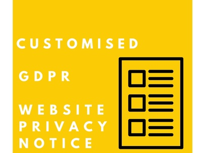Make you a GDPR compliant Privacy Policy for your website.