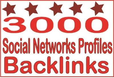 3000 HQ PR Panda Safe Social Networks Profiles Backlinks