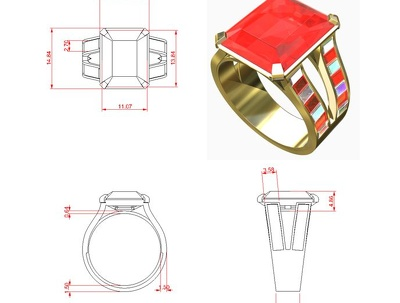 Create 3d printable CAD model from jewellery designs/sketches