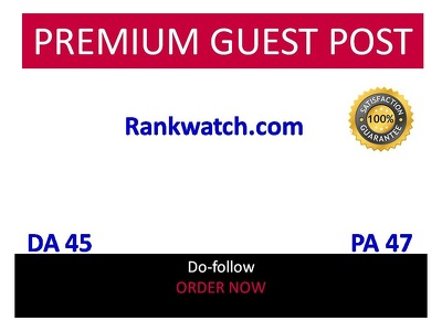 Publish guest post in Rankwatch - rankwatch.com