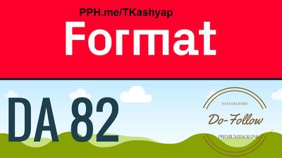 Fashion Blog Do-Follow Guest Post on Format Format.com DA 87